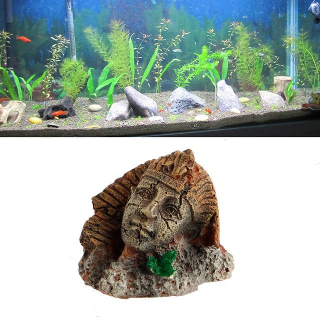 Oude Egyptische Farao Sphinx Ruïnes Aquarium Ornament Fish Tank Decoratie Antiguas Esfinge Ruinas Del Ornamento Acuario