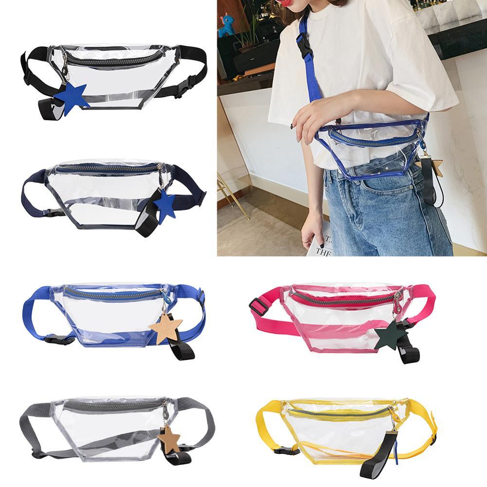 2019 New Women Simple Transparent Waist Bags Fashion PVC Transparent Fanny Pack Women Waist Bags