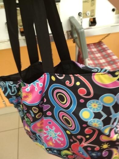 Foldable Large Shopping Bag Women Girl's Shoulder Bag Lady Handbag Pouch Zipper Closure Pocket Shopping Tote Casual Beach Bag photo review