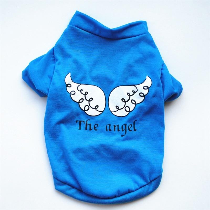 Chihuahua Shirt Angel Wings Maltese Dog Clothes Small Medium Shirt Doggie Shirts Cute Dog Clothes Summer Gatos Pet Clothing E