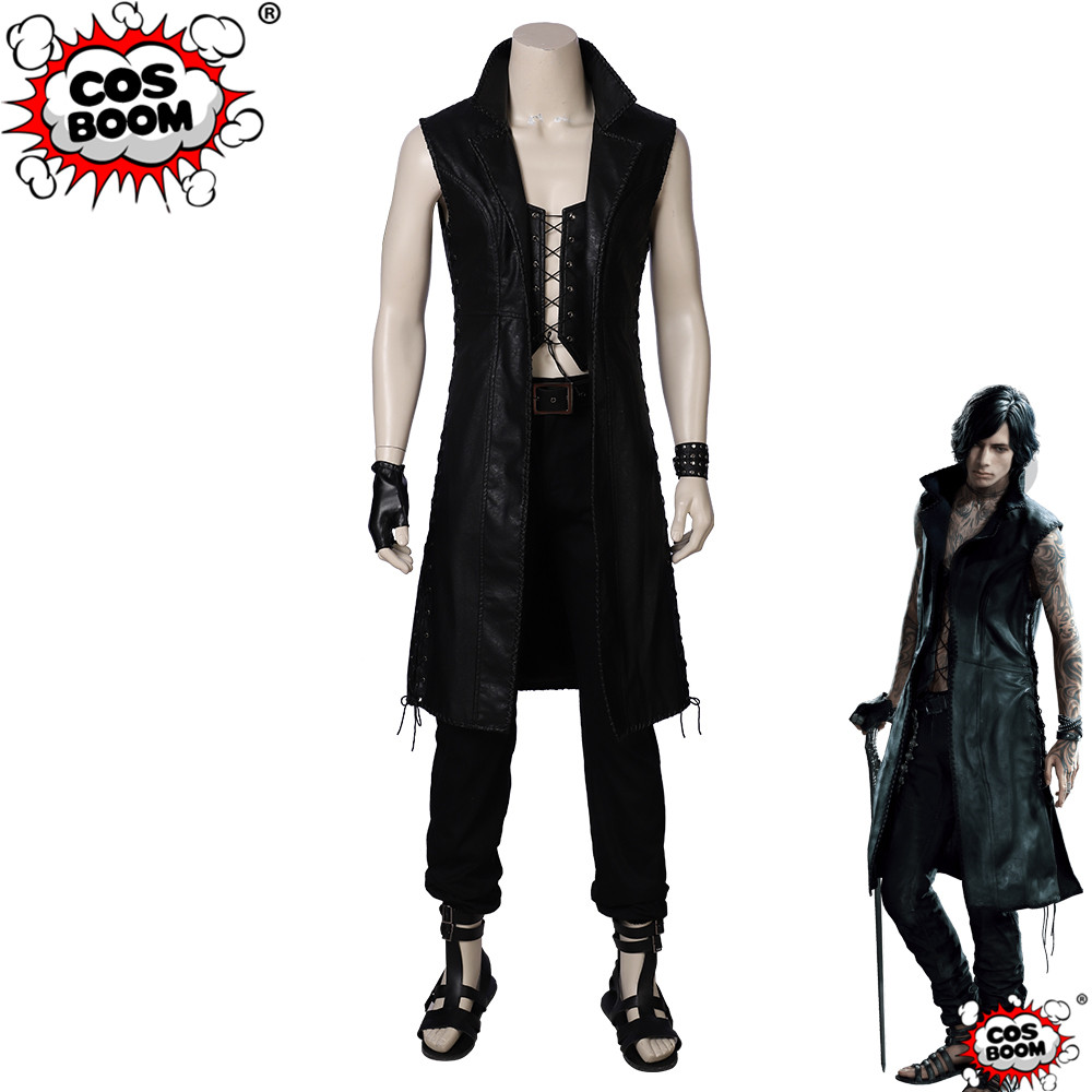 COSBOOM Devil May Cry 5 V Cosplay Costume Men's Halloween Party Game Devil May Cry Mysterious Man Cosplay Costume