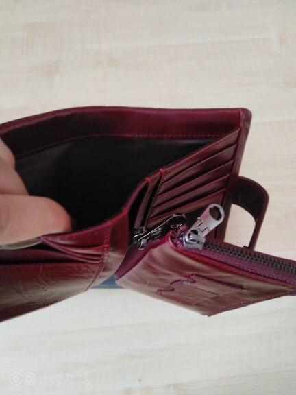 Материал:: Натуральная Кожа Женщин Бумажник; Основной Материал: Натуральная Кожа; 1 цент монета;