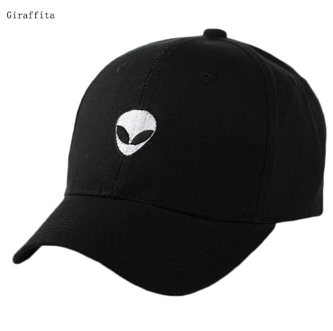 2017 Baseball Cap Black Embroidered Alien Pattern Cap Fashion Cool Adjustable Snapback Hip-hop Baseball Cap Hat Unisex