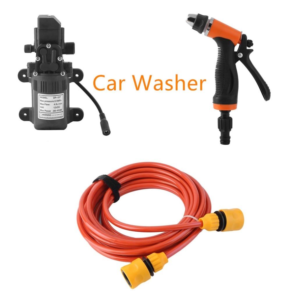 Household High Pressure Electric Car Wash Washer 4L/min Self-priming Water Pump 12V Car Washer Washing Machine Free Shipping