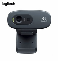 Logitech C270 HD Vid 720จุดเว็บแคมในตัวMicphone USB2.0มินิคอมพิว
