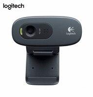 Logitech C270 HD Vid 720P Webcam Built in Micphone USB2.0 Mini Computer Camera for PC Laptop