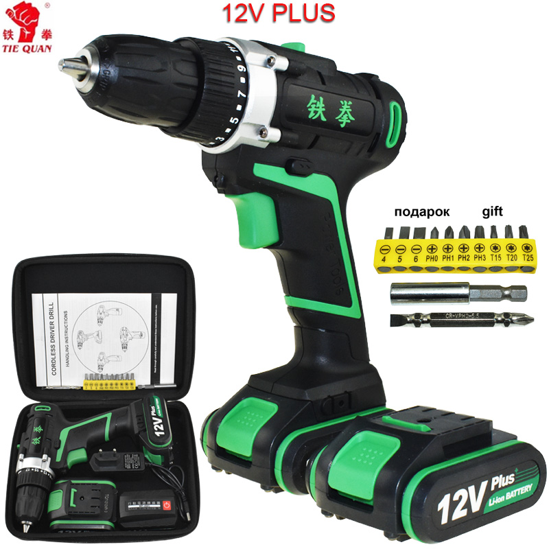 12v electric Screwdriver power tools electric Drill Cordless Drill battery drill Electric drilling battery Mini Plus+Hand bag 12v cordless drill electric drill electric tools mini electric drilling eu plug battery drill electric screwdriver power tools