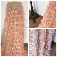 4.5 Meters 2018 Latest French Nigerian Laces Fabrics High Quality Tulle African Laces Fabric Wedding Dress 3D Flower Lace Fabric
