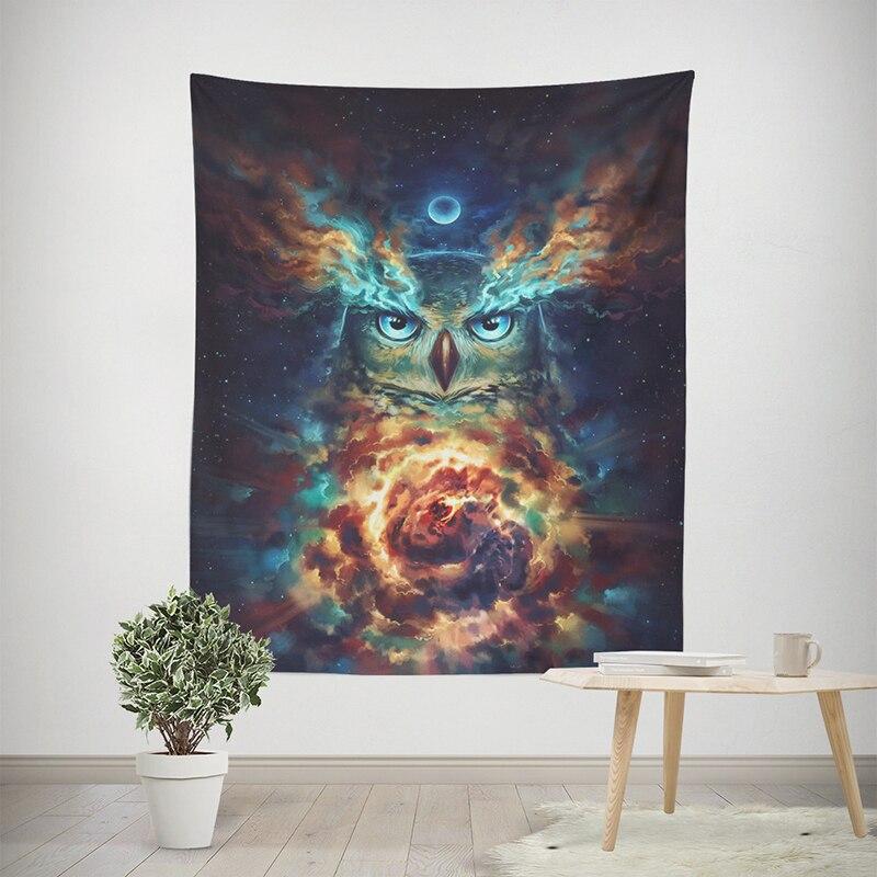 150x130/200x150 Cm Dream Uil Wolf Herten Tapijt Muur Opknoping Voor Thuis Wanddecoratie Yoga Mat Tafelkleed Strandlaken Sofa Cover 100% Garantie