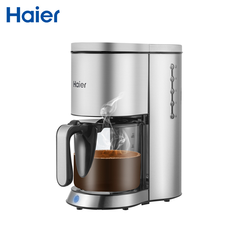 Coffee maker Haier HCM-142 Coffee Machine makers Espresso 1.2 L 1250 bt manual Electric Grind Stainless Steel electric stainless steel syphon coffee maker automatic electric vacuum coffee pot with high quality and factory dirctly sale