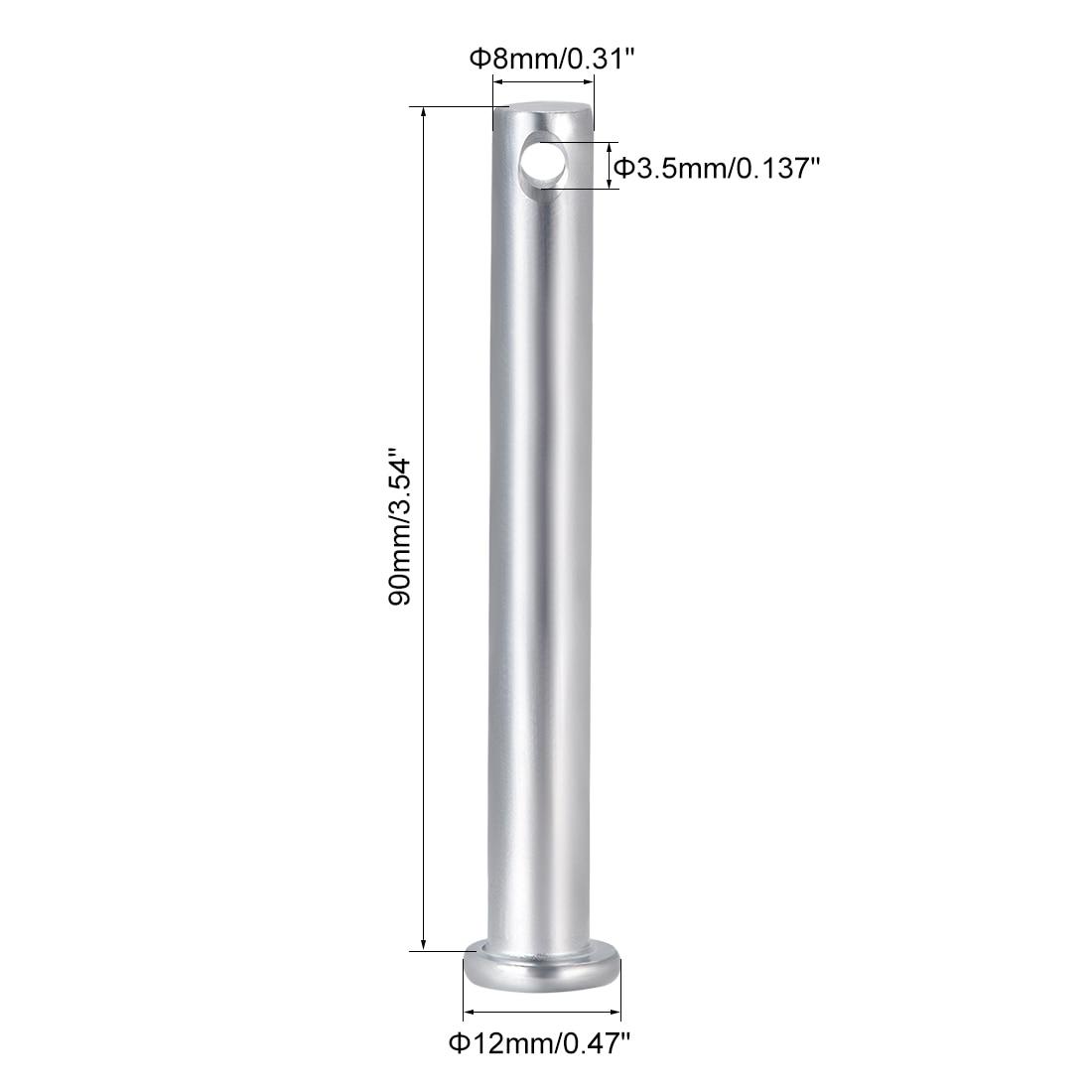 uxcell Single Hole Clevis Pins,10mm x 30mm Flat Head Zinc-Plating Steel 10 Pcs
