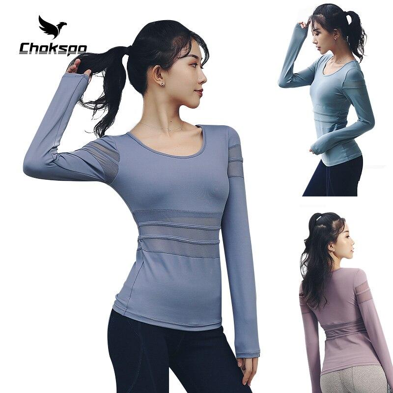 Chokspo femmes Yoga chemise Sport Top Fitness femmes haut respirant Deportivo Mujer Deporte Mujer pour les femmes Fitness course Yoga