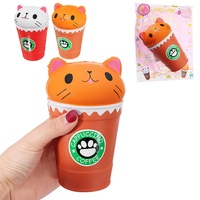 Cute Coffe Cup Cat Scented Squeeze Toy For Kids Adults Slow Rising Phone Fun Gifts Toys