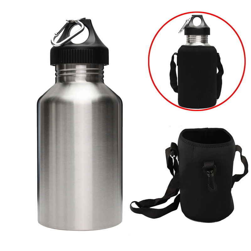 Best Deal 2L Large Stainless Steel Water Bottle Sports Exercise Drinking Kettle With Carrier Bag Holder Outdoor Tool best price mgehr1212 2 slot cutter external grooving tool holder turning tool no insert hot sale brand new