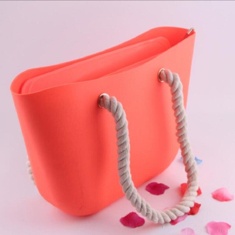 Mesdames haute qualité chanvre corde poignées Obag poignées marque bande manière imperméable gel de silice décontracté O sac femmes épaule EVA sacs bao