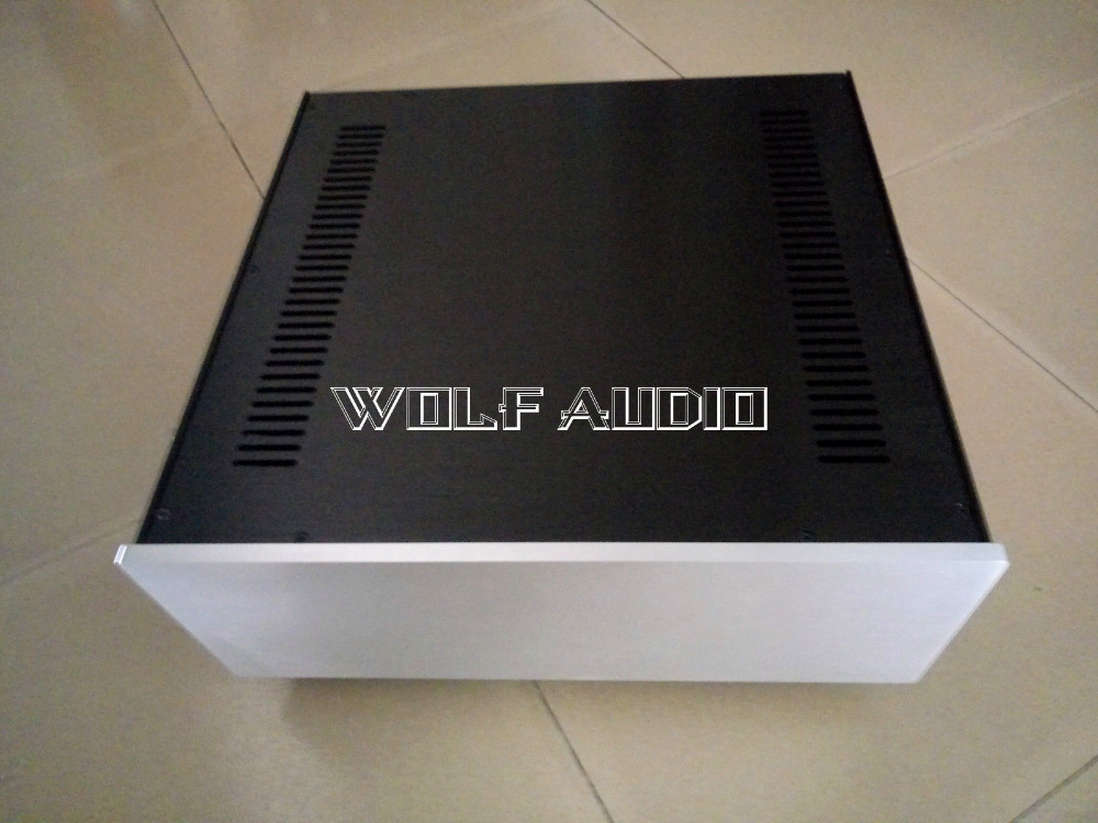 BZ4316A Details about Full Aluminum Amplifier Chassis Preamp Enclosure AMP Case Cabinet DIY Box New 430MM*165MM*410MM