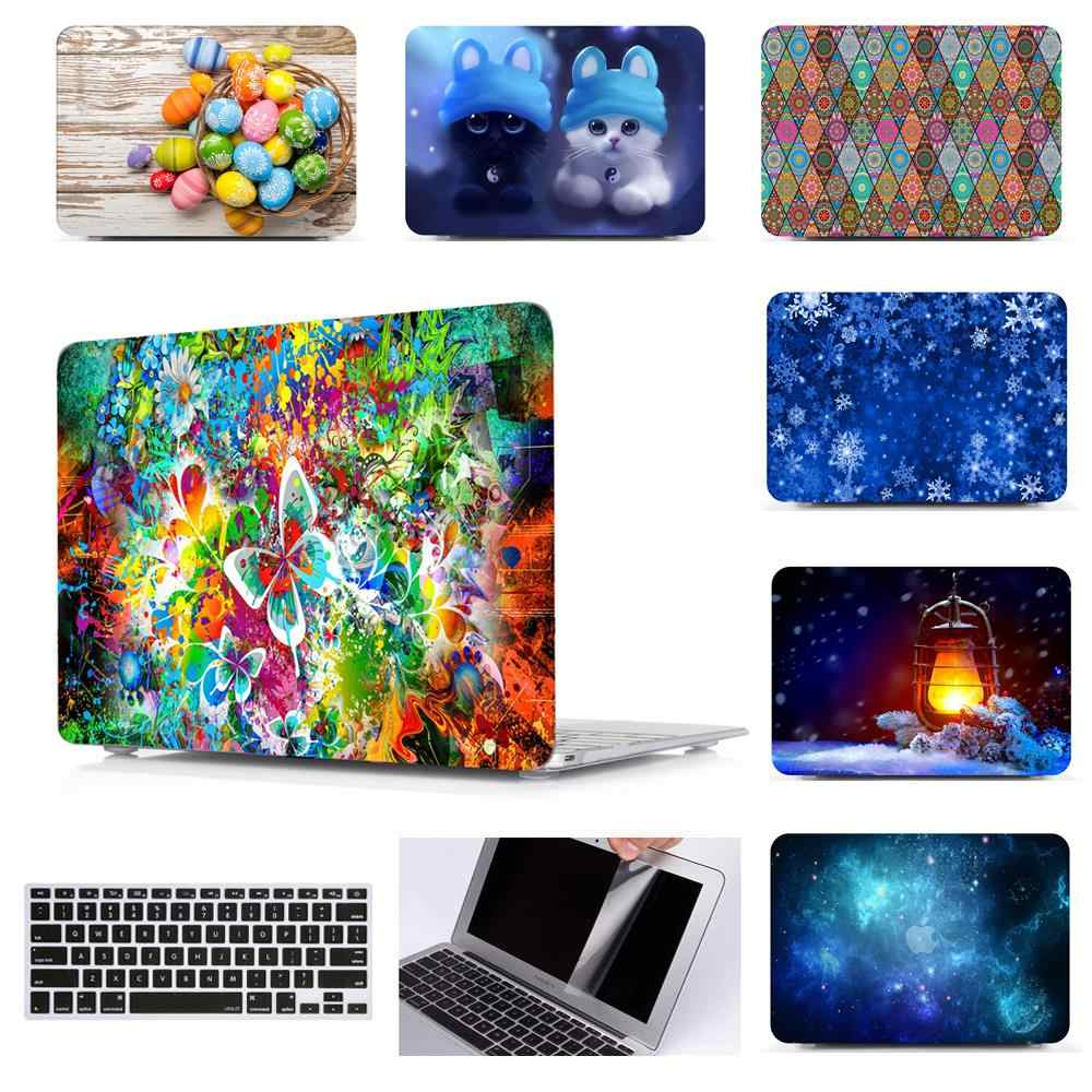 Printing Hard Case Shell Keyboard Cover Kulit untuk Apple MacBook Pro 13 15 16 Inch Air Retina Touch Bar 11 13 15 Laptop A2141