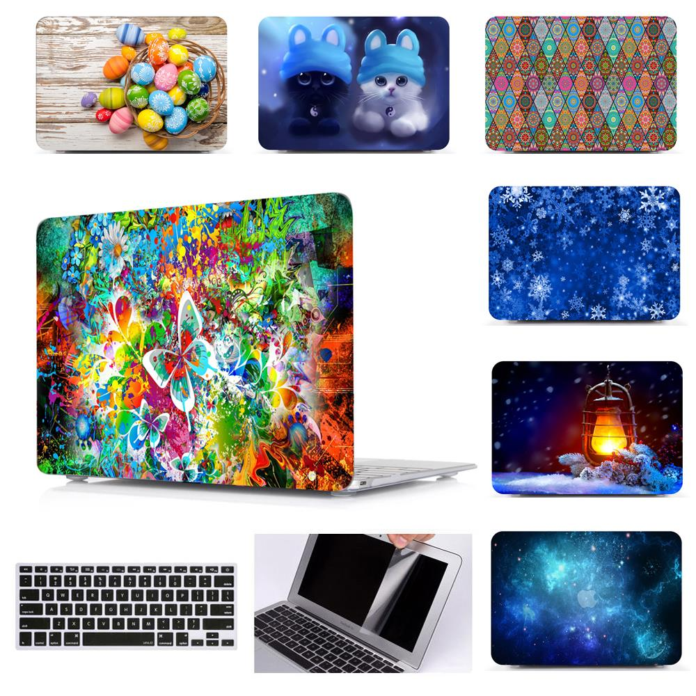 Printing Hard Case Shell Keyboard Cover Skin For Apple Macbook Pro 13 15 Air 11 13 Inch Touch Bar 13 15 Laptop Case
