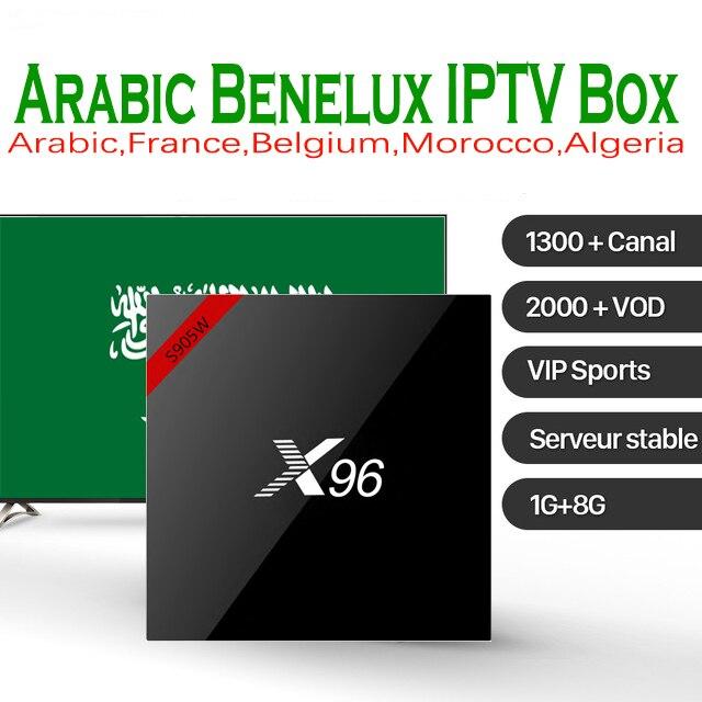 X96 Arabic IPTV Amlogic S905W 4k Android 7.1 TV Box with 1600 Live 2000 Arabic Belgium Morocco IPTV Android TV Box Media Player french iptv x96mini 4k android 7 1 smart tv box with 1600 channels french belgium morocoo arabic iptv amlogic s905w set top box