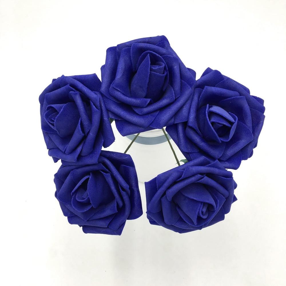 Cobalt Blue Wedding Flowers Fake Roses 100 Flowers 8cm