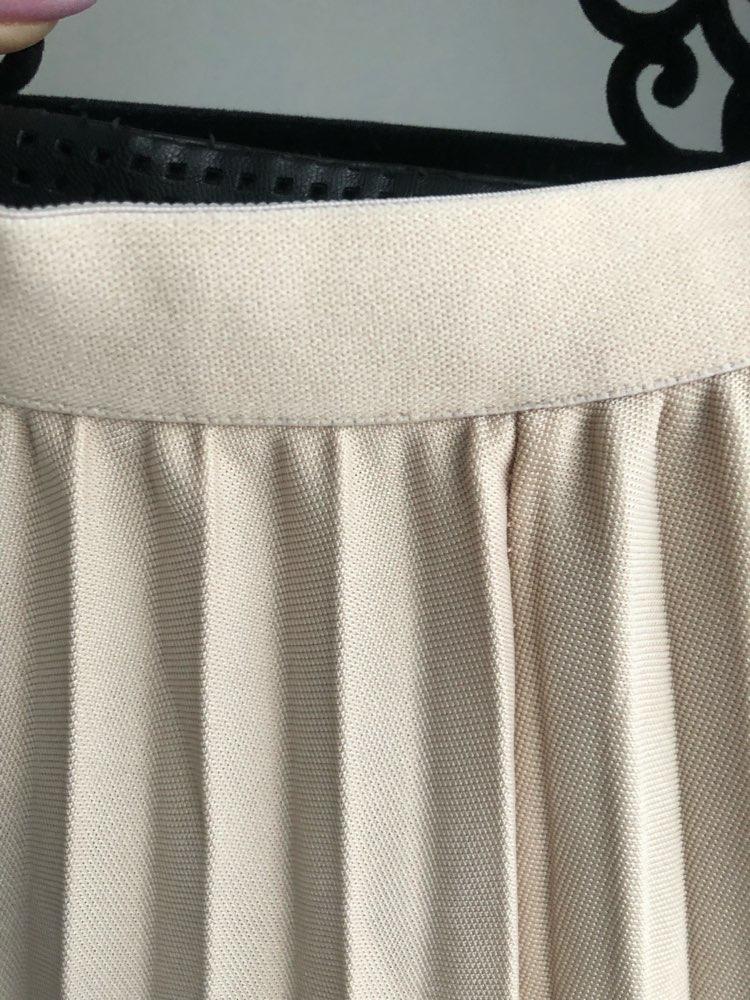 Women Skirt High Waist Women Pleated Midi Skirt Female Jumper Ladies A Line Midi Skirt Saia Vintage Spring Skirt photo review