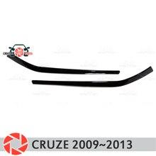 Брови для Chevrolet Cruze 2009 ~ 2013 для фар ресницы пластиковые молдинги украшения отделка автомобиля дизайн декоративная накладка