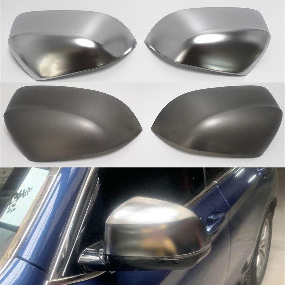 For BMW X3 G01 2018 2019 X4 G02 X5 G05 X7 G07 Side Wing Rear View Rearview Mirror Cover Trim Replace Silver Grey Black Carbon automotive side-view mirror