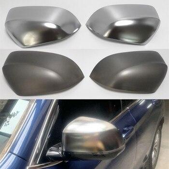 Untuk BMW X3 G01 2018 2019X4 G02 X5 G05 X7 G07 Sisi Sayap Belakang Kaca Cermin Penutup potong Mengganti Perak Abu-abu Hitam Karbon