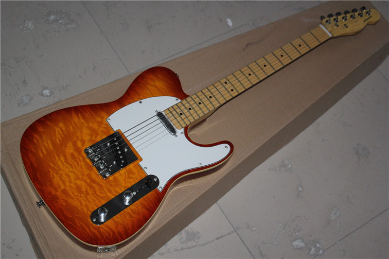 Telecaster Factory Custom tl guitar sunburst flame maple top free shipping 1 2 np managed heart failure clinic model
