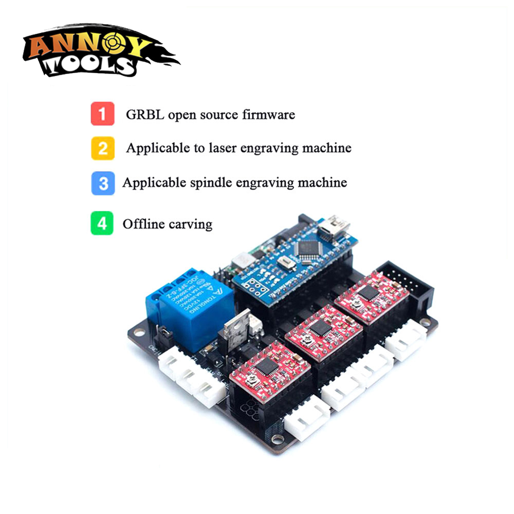 GRBL Open Source Firmware 3axis CNC Controller Board Laser Engraving Machine PCB Board Wood Router Controller