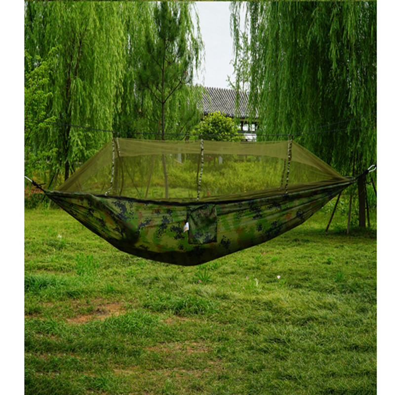 1-2 Person Outdoor Parachute Mosquito Net Hammock Camping Hanging Sleeping Bed Swing Portable Double Person Outdoor Hammock fashion parachute fabric hammock double person portable mosquito net hammock outdoor furniture camping travel garden swing hamak