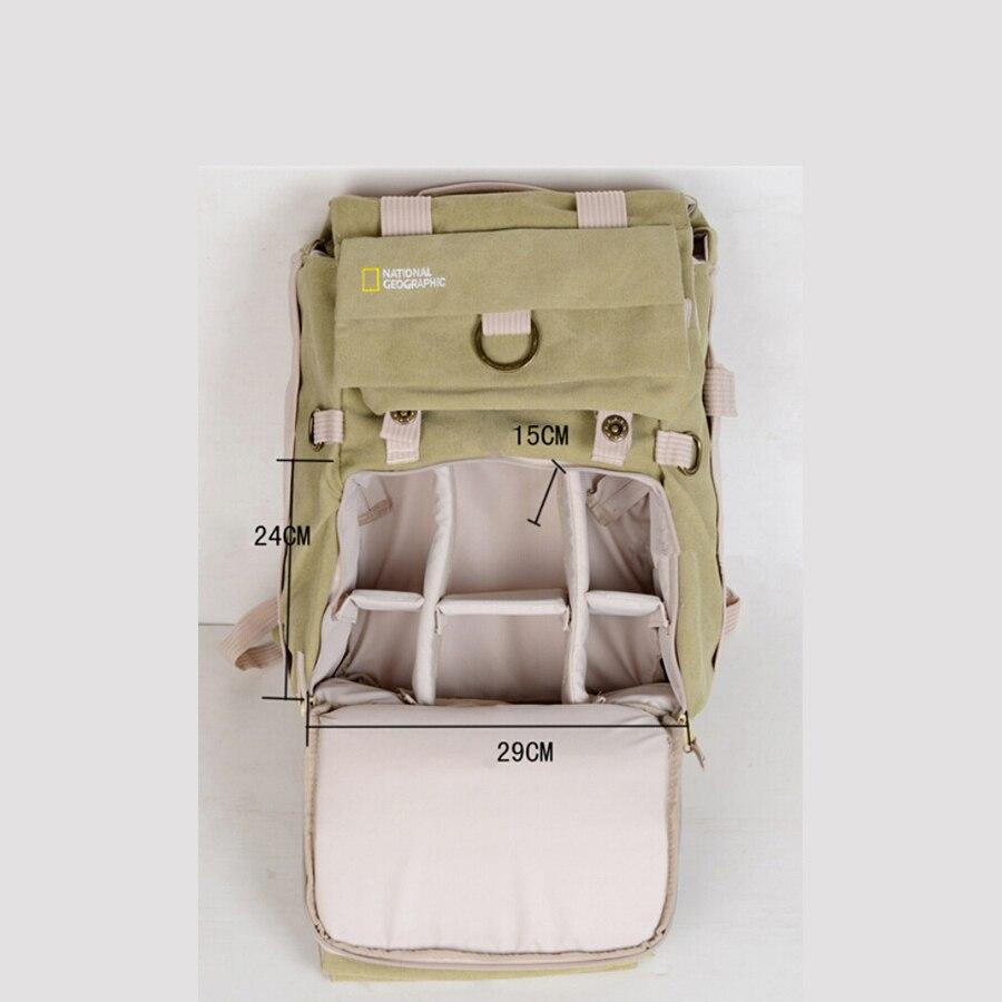 Earth Explorer NG5160 toile DSLR caméra sac à dos/étui/pochette d'ordinateur pour Canon Nikon Sony - 4