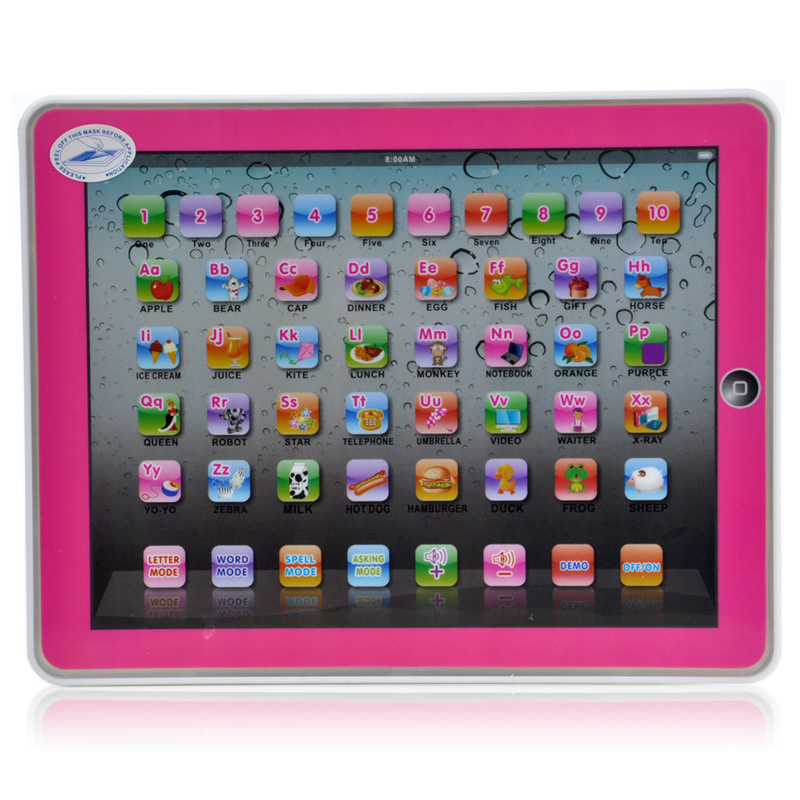 English Language Childrens Tablet Computer For Kinds YPad Computer Educational Toys Lear ...