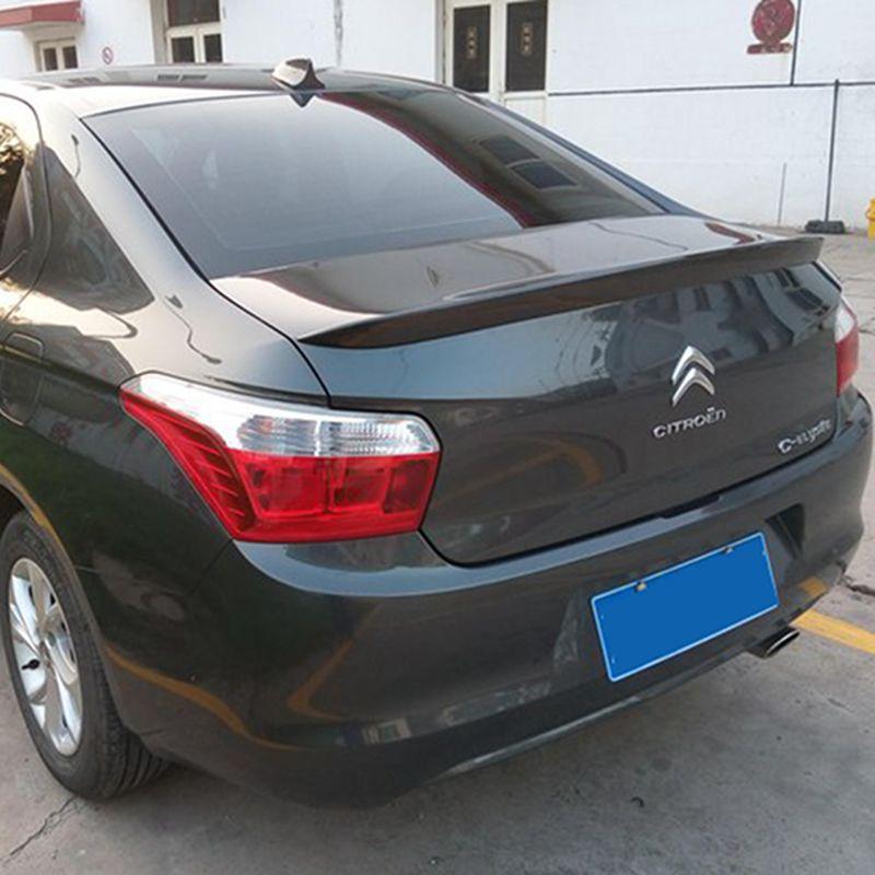 use for citroen elysee spoiler 2014-2017 citroen elysee lip spoiler High Quality ABS Material Car Rear Wing Primer Color spoiler