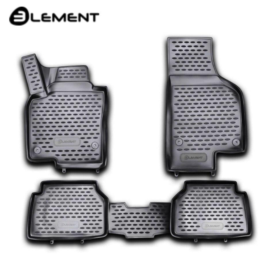 Para Volkswagen Tiguan 2008-2016 3D alfombras de piso en salón 4 unids/set elemento NLC3D5121210kh