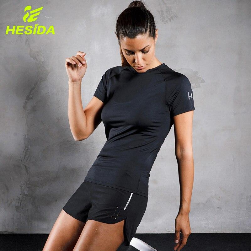 Женский спортивный комплект для фитнеса из 2 шт.: футболка и короткие штаны для йоги, спортивная одежда для бега, спортивный костюм из 2 шт., ко...