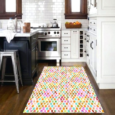 Else Pink Yellow Green Honeycomb Hexagon Geometric Watercolor 3d Print Non Slip Microfiber Kitchen Decorative  Area Rug Mat