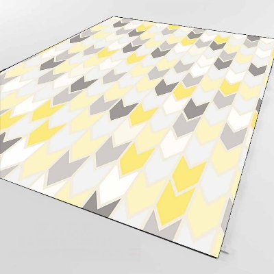 Else Gray Yellow Planes Tiles Lines Geometric 3d Print Non Slip Microfiber Living Room Decorative Modern Washable Area Rug Mat