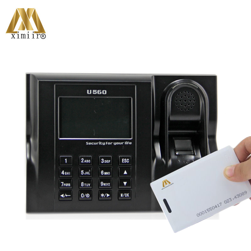 Linux System ZK U560 Biometric Fingerprint Time Attendance And Time Clock With RFID Card Time Attendance Recorder Free Shipping