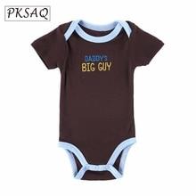 2017 Fashion Brand Design Romper Girl Boy Clothing Letter Clothes Newborn Cotton Baby PKSAQ mother kids Jumpsuits 0-12M(China)