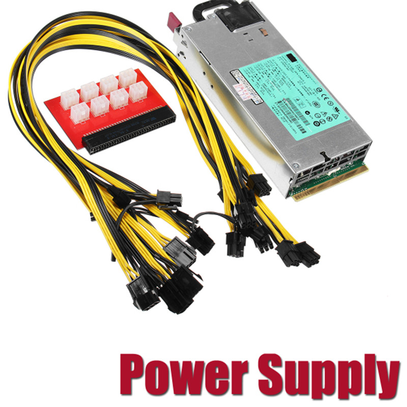 94% Platinum PSU Miner Power Supply for GPU Open Rig Mining Ethereum Miner 1200W 900W Server Power for Bitcoin BTC LTC 94