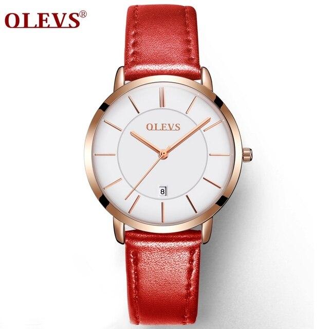 Натуральная Часы olevs Роскошные Для женщин розового золота часы Повседневное кварцевые женские часы наручные часы Водонепроницаемый часы Relojes Mujer