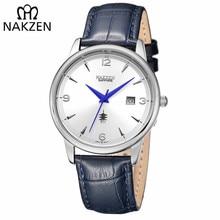 NAKZEN Classic Ձեռքի ժամացույց ապրանքանիշ Շքեղ քվարց տղամարդիկ ժամացույցներ Անջրանցիկ ժամացույց Տղամարդկանց պատահական սպորտային զով ժամացույց նվեր Relogio Masculino