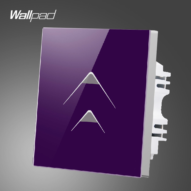 Smart Walls Wallpad 110-250V 2 Gang 2 Way Luxury Purple Glass Wall Light Touch Switch Hotel Energy Saving Switch,Free Shipping wallpad smart home switch 110 250v uk 1 gang 2 way pink tempered glass led indicator wall touch switch free shipping