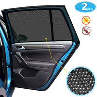 S-XXL carro auto veículo janela conjunto de malha escudo pára-sol viseira net mosquito repelente proteção uv anti mosquito janela do carro capa