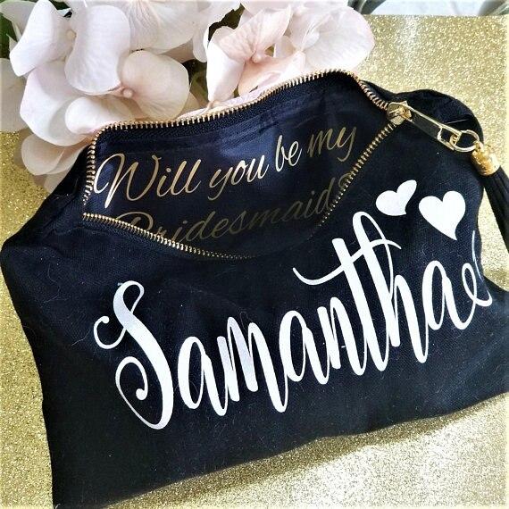 Personalized Bridesmaid Bags Maid Of Honor Gift Bag Bridal