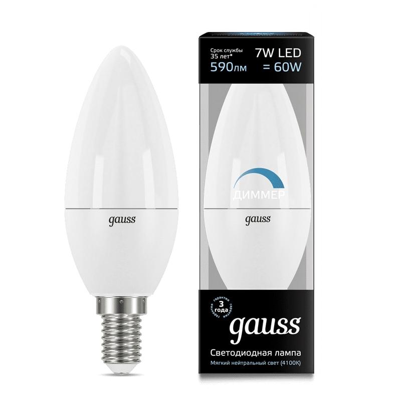 HA CONDOTTO LA lampada della lampadina della candela diode dimmable E14 C37 7 W 3000 K 4000 K freddo neutro luce calda Gauss Lampada luce della lampada della lampadina della candela - 3