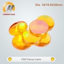 Рекламная китайская продукция ZnSe фокус объектива CO2 линзы лазера Dia.18 19,05 20 мм FL38.1 50,8 63,5 75 100 127 мм
