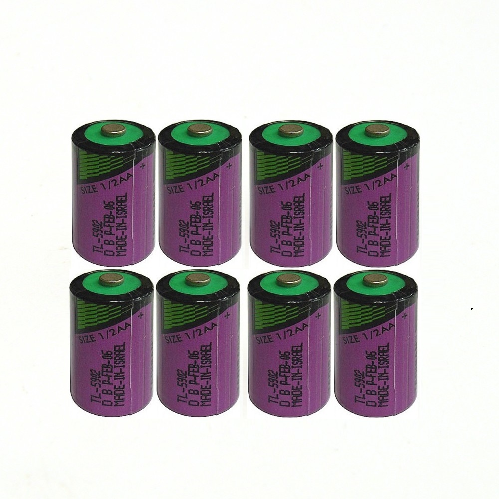 8pcs/lot New high quality TL-5902 <font><b>1</b></font> / 2AA ER14250 SL350 <font><b>3.6V</b></font> <font><b>1</b></font>/<font><b>2</b></font> <font><b>AA</b></font> PLC <font><b>lithium</b></font> <font><b>battery</b></font> image