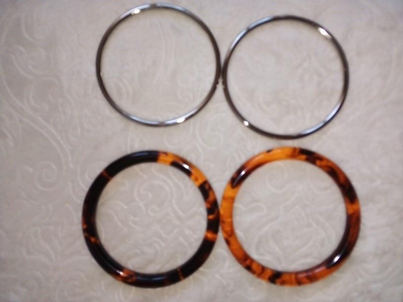 Een paar Acrylzak / Handvatbeurs Schildpadschelp Acryl Hawksbill Kleur Acrylhars Handvat Kunststof Handtas Tas D photo review